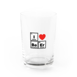 I love beer!(元素記号) Water Glass