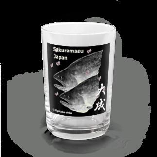 G-HERRING(鰊;鮭;公魚;Tenkara;SALMON)のサクラマス! 大成(桜鱒;SAKURAMASU;桜)あらゆる生命たちへ感謝をささげます。 Water Glass