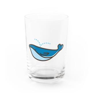 うみのともだち・クジラ君 Water Glass