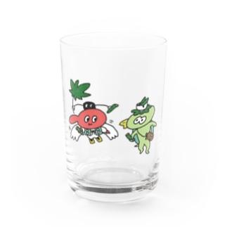 てんぐちゃんとカッパくん Water Glass
