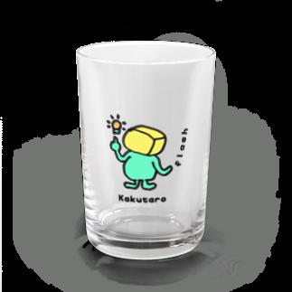 【Shop】ちょいメタ角太郎 Kakutaro cube manのKakutaro cube man 【flash】 Water Glass