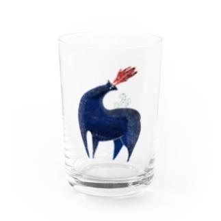青の鹿 Water Glass