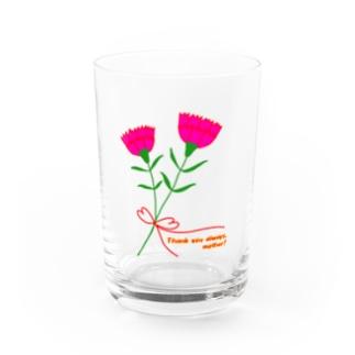 お母さんいつもありがとう! Water Glass