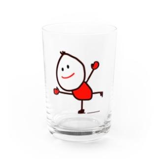 スケートくん Water Glass
