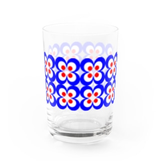 60s風 レトロ柄 その1 Water Glass