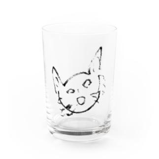 ネコじゃない Water Glass