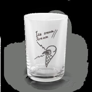 とよしげのお店のIce cream  Scream!! Water Glass