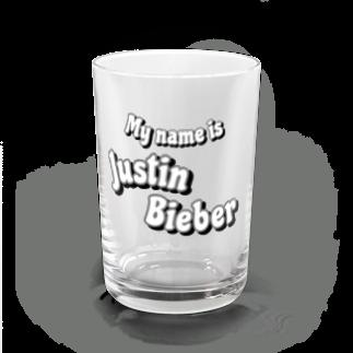 h-sのJustin Bieber  Water Glass