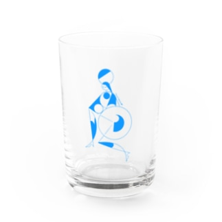 circus_blue Water Glass