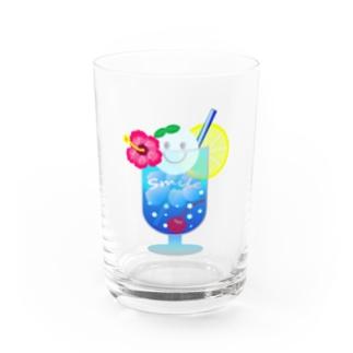 Yokokkoの店のSmile in Cream Soda🍹 Water Glass