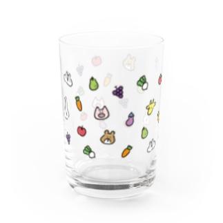 うささんズとお野菜 Water Glass