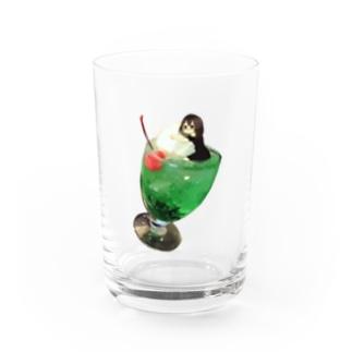 クリームソーダちゃん Water Glass