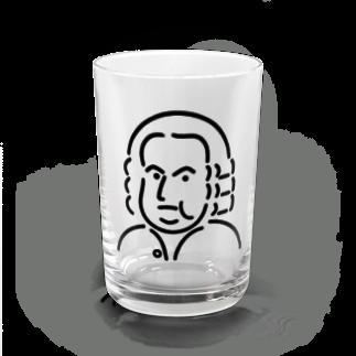 Aliviostaのバッハ イラスト 3 Water Glass