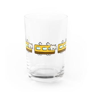 ネコのムニエルさん×電車 Water Glass