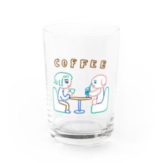 桜のcoffee Water Glass
