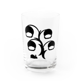 白黒草兎b Water Glass