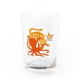 猫とタコ Water Glass
