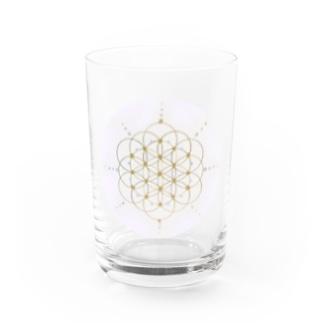 flower of Life image ラウンド Water Glass