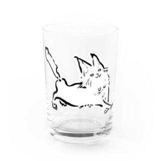 ルンルンねこ Water Glass