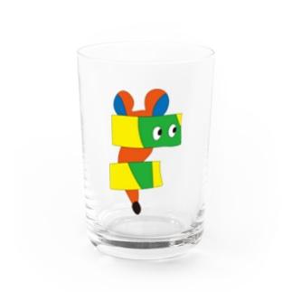 ねずみ (ズレ) Water Glass