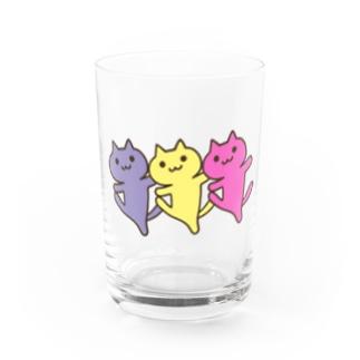 ダンシンにゃーん Water Glass