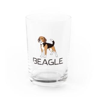 BEAGLEロゴ&イラスト Water Glass