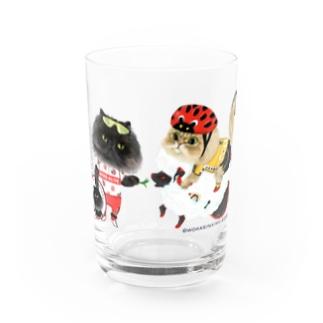 自転車屋さんな猫 Water Glass