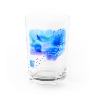 ウリクラゲとマンタの四角い海 Water Glass