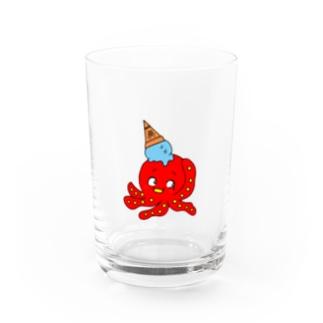 たことアイス Water Glass