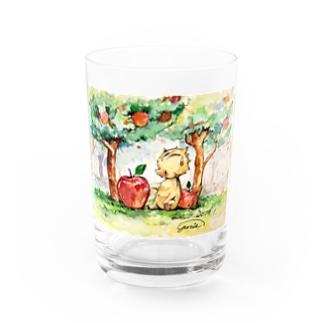 いのししとリンゴ Water Glass