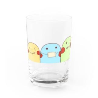 yuuオリジナルイラスト7 ポコちゃん三兄弟 Water Glass