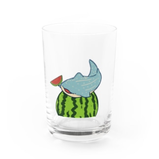 スイカとジンベイザメ Water Glass