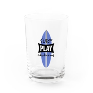 PLAY SURF BL Water Glass