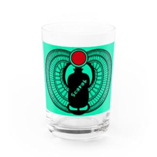 古代エジプト・有翼スカラベ Water Glass