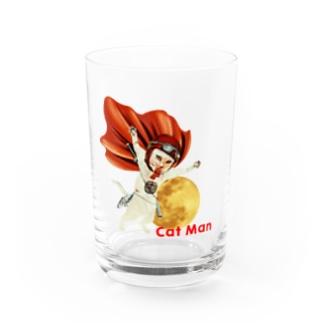 CAT MAN Water Glass