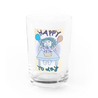 happy birthday Water Glass