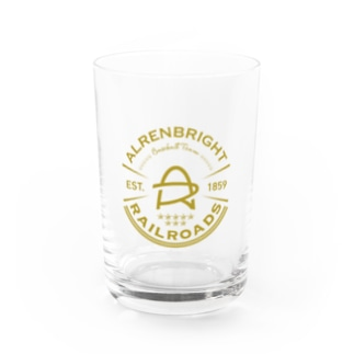Railroads エンブレムロゴ 黄色 Water Glass