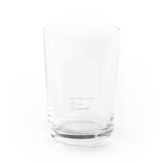 rilybiiのライトグレー*ロゴ  Water Glass