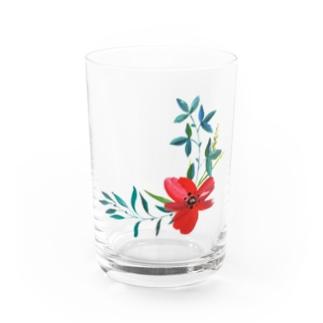 Flower Water Glass