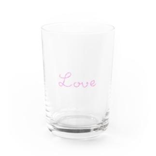 ゆるくまのLove Water Glass