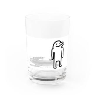 【イルカニソゲソ】何も問題ありません Water Glass