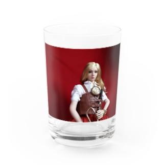 FUCHSGOLDの人形写真:ブロンド美少女の冒険者 Doll picture: Blonde adventurer Water Glass
