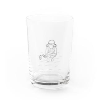 黄昏麦わらガール Water Glass