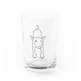 ふりふりブルテリア Water Glass