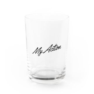 My Action Goods Black Water Glass