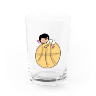 tacotuesdayのバスケ大好き!【文字なし、色あり】 Water Glass