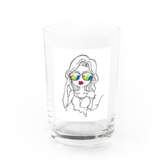 sexy girl(ポップ) Water Glass