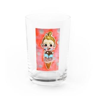 Icecream doll dotts Water Glass