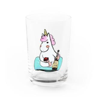 ほろ酔いこんこん Water Glass