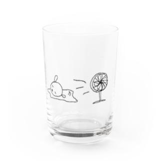 ナツバテらくがきくうさん Water Glass